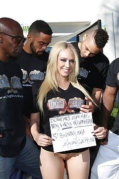 Kagney Linn Karter Black Cock Gangbang