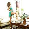 Eva Lovia and the Sexy Green Dress - image