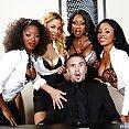 Horny Ebony Nymphos Job Interview - image