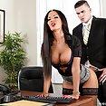 Brit Babe Elicia Solis is a Slutty Secretary - image