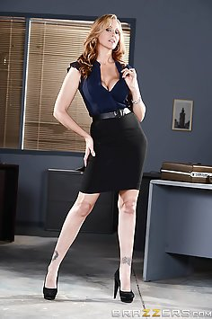 Boss Lady Julia Ann Rules the Office