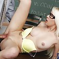 Teacher Bangs Hot Blond Student - image