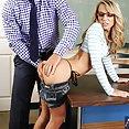 Teach Fucks Small Tits Student On His Desk - image