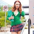 Horny Schoolgirl Dani Jensen Makes Studying Harder - image