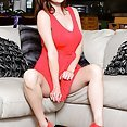 Hotty Amber Hahn in and out of Red - image