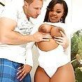 Ebony Babe Nina Rotti Cum On Her Tits - image