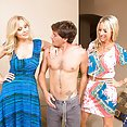 Two Ho Cougars Thrill a Young Delivery Guy - image