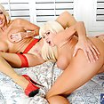 Horny MILFs Share a Big Cock and the Cum Shot - image