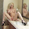Hot Blond Diddles Herself - image
