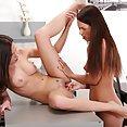 Lesbian Lip Service Hot Girls Kissing - image