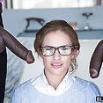 Teen Natasha White Threesome with Two Monster Dicks - image