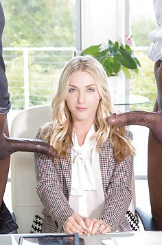 Karla Kush Versus Two Big Black Cocks