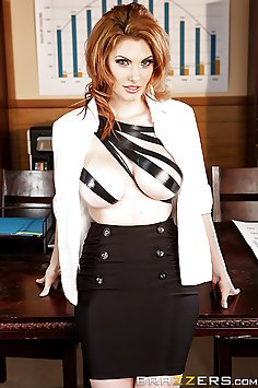 Hot Redhead With Big Tits Taped Up and Fucked