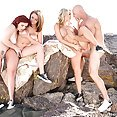 With fourway Outdoor Fuck Session - image