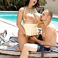 Horny Angel Gets Fucked Outdoors - image
