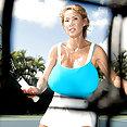 Minka Tries Tennis - image