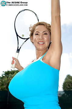 Minka Tries Tennis