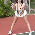 Gianna Michaels In this sexy Tennis Themes Outdoor Nude Set - image