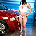 Busty Car Wash Babe - image