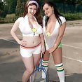 Busty Tennis Duo - image