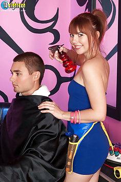 Haircut and Cock Play
