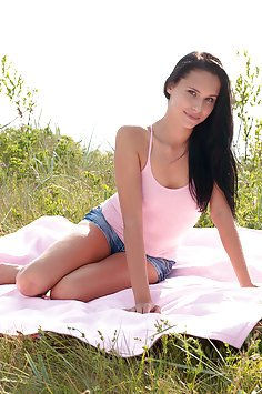 Lovely and Leggy Teen In Jean Shorts