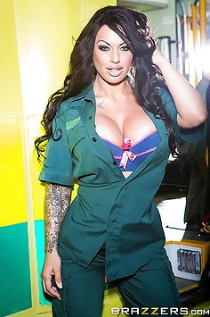 Busty EMT Knows How To Save The Day