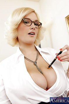 Busty Office Worker Sucking Cock