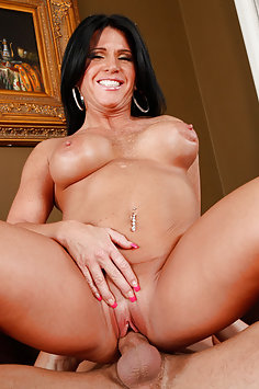 Busty MILF Takes His Young Cock