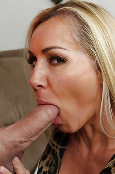 Busty blonde MILF loves to fuck her sons friends.