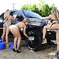 Sexy Car Wash Turns Into Fiveway Fuck - image