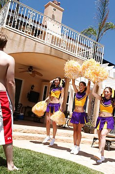 Cheerleader Gets Fucked Outdoors