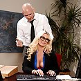 Blond Bimbo Fucked At the Office - image