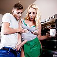 New Barista Victoria Summers Takes His Cock - image