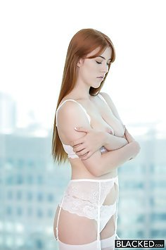 Tight Redhead Takes BBC Deep In Her Ginger Minge