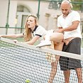 Tennis Student Gets Anal Lesson - image