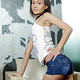 Tiny Tits Cutie in Jean Shorts - image