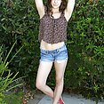 Kasey Warner Fingers Herself Outdoors - image
