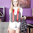 Rachel James Flashes Her Schoolgirl Panties and Tiny Tits - image