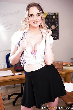 Busty Student Gets It on With Her Teacher