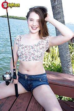Teen Hottie Loses Her Jean Shorts