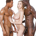 Kendra Sunderland Takes Two Black Cocks - image
