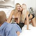 Blonde beauties Angel WIcky and Katarina Hartlova Threesome - image