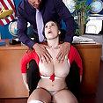 Naughty Schoolgirl With Huge Boobs - image