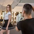 Teen Fashion Model Takes a Hard Cock - image
