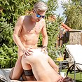 Poolside Orgy for Outdoors Busty Agents - image