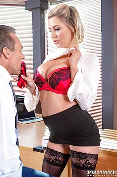 Sienna Day fucks her boss in the office