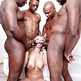 Nathaly Cherie loves interracial gangbangs - image