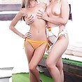 Gina Gerson and Selvaggia in orgy with DP - image