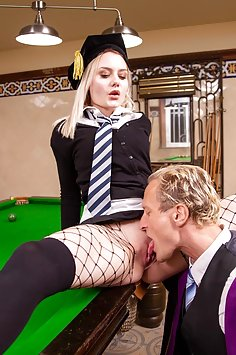 Scarlett Knight Fucks teacher on Pool Table